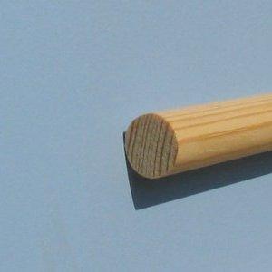 Apvalus profilis, pušis. 17.5mm