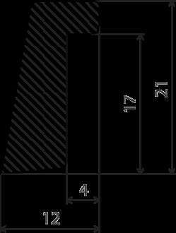 Durų stiklajuostė 12*22 b